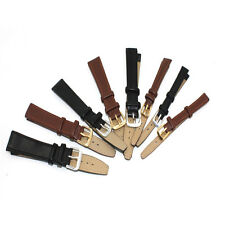 Watch Strap Genuine-Leather Replacement Repair Band Black/Brown Leather 7SP