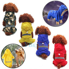 New Pet Dog Puppy Rain Coat Clothes Waterproof Jacket Rainwear Hooded Reflective