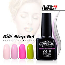 10ml One Step Gel Polish Nail Art Manicure NO Need Top Base Coat 3 in One UV Gel