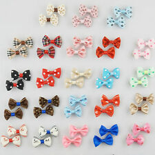 5-50PAIRS Wholesale  Dog Cat Print Hair Bow Hair Clips Pet Grooming Accessories