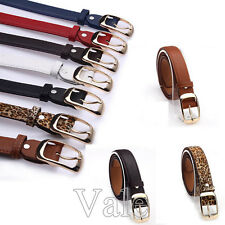 Women Belt Lady Faux Leather Metal Buckle Straps Fashion Girl Stretch Waistband