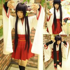 Inu x Boku SS Shirakiin Ririchiyo Dress Cosplay Costume + Scarf Free Shipping