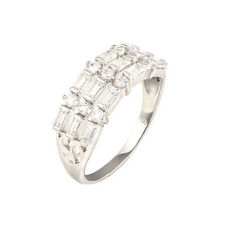 Wholesale 18K White Gold Filled crystal Crystal Fashion Band Ring,Size 7,8