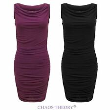 Ladies Womens Sleeveless Sexy Summer Cocktail Party Bodycon Stretch Dress