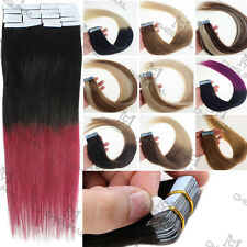 "16""18""20""22""24""Tape In Double Drawn 100% Virgin Remy Human Hair Extensions"