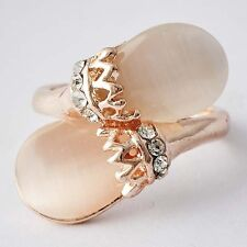 Gold Filled Opal Cubic Zirconia Womens knuckle Lady Rings Size 7 8 9 10 Fashion