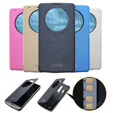 Slim Flip Window View Leather Quick Smart Case Cover Wallet Flip For LG G3 G4