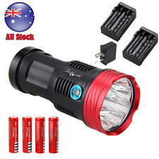 Rechargeable 25000Lm 9x Cree XM-T6 LED Flashlight Torch Light Hunting 18650 Lamp