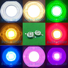 3W LED Lamp Full Spectrum UV Cold Warm White Blue Red Green Cyan Yellow Purple