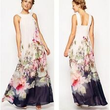 FOONEE Sexy Women Floral Summer Beach Party Evening Chiffon Dress Sundress New