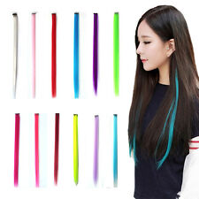 1pcs Women 12 Color Long Straight Synthetic Clip in on Hair Extensions Piece NEW
