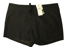 New With Tags Island Escape Womens Swim Front Tie Board Shorts Black