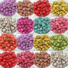 Wholesale 100Pcs 9X7MM Turquoise Carved Skull Loose Spacer Beads Charm Hot!!