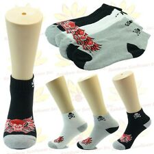 NEW 9 Pairs Ankle/Quarter Crew Mens Socks Cotton Low Cut Size 9-11 10-13 Skull