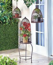 Planter Birdcage Garden Decor Indoor Outdoor Patio Plants Metal Stand Unique NEW