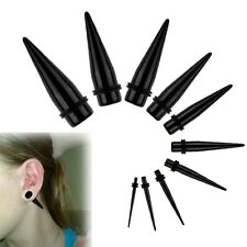 1 Pair Acrylic Ear Taper Stretchers Expanders Kit Tapers Earrings Stretching