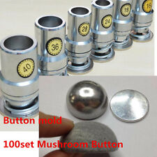 Fabric Covered Button Press Machine Dies Tools +100 set Mushroom Fabric But