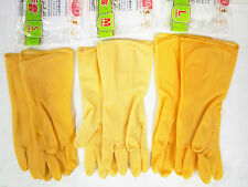 THICK RUBBER GLOVES WITH GRIP DOTS - KITCHEN WATERPROOF DISHWASHING