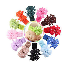 Baby Girl's Headband Flower Hair Bow Wave Head Wear Hairband 6 Months To 3 Years