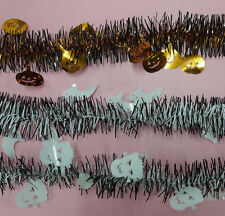 LuxGar Halloween Tinsel Garland Decoration - Retail Lot