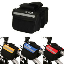 Bike Mountain Cycle Bicycle Front Frame Tube Double Bag Storage Pouch Phone Case
