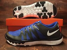 Nike Free Trainer 5.0 V6 AMP Duke Blue Devils Shoes Black Blue SZ ( 723939-041 )