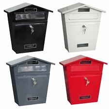 LOCKABLE OUTSIDE LETTERBOX LETTER POST MAIL BOX POSTBOX FIXING KIT WALL MOUNTED
