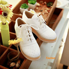 Womens Ladies Wedge Platform Sneaker Miss Students Shoes Lace  Strappy TD266