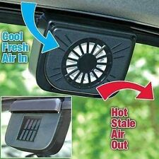 Solar Sun Powered Car Auto Air Vent Cool Fan Cooler + Rubber Stripping Minir OG