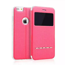 Hot Fashion Flip Window View Leather Smart Case Cover For iPhone Samsung LG+Gift