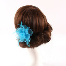 Women Handmade Sinamay Fascinator Flower Races Wedding Tea Party Clip Hat