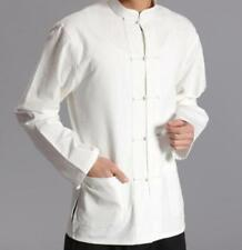 Mens Chinese Style Summer Sleeve Kung Fu Tai Chi Tops Cotton Linen Casual Shirt
