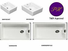 T&H  Belfast Butler white ceramic sink inc waste