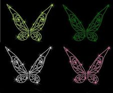 """9.2"""" Tinkerbell wings iron on rhinestone transfer bling patch your color choice"""