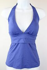 NWT Tommy Bahama Blue Lagoon Pearl Solids Pleated Halter Cup Tankini Top