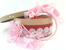 """Tenderness"" Baby-Girl Bow Hair Sets of 1 Headband/Hoop and 2 Clips/ Barrettes"