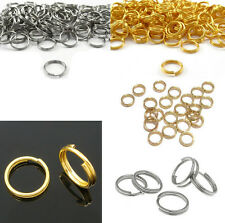 100Pcs Gold 7/8/10mm Metal Open Silver Connectors Rings Split NEW Double Jump