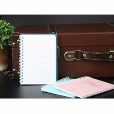 Spiral Coil Plastic Cover Notebook Diary Journal Student Note Pad Book Memo 64K