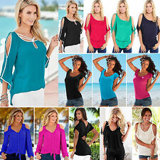 Sexy Women Summer Beach Off Shoulder T Shirt Ladies Casual Loose Tee Tops Blouse