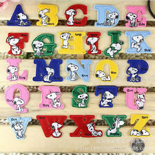 classic snoopy letter Motif A B C embroidered patch iron/sew on badge DIY Cloth