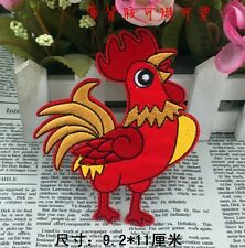 red Cartoon Big cock fancy embroidered patch iron/sew on applique Cloth badge