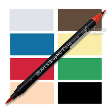 Zig Art and Graphic Twin, Brush tip and fine tip marker, waterbased ink, Zig