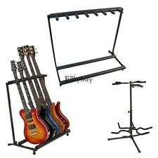 Hold 3/5/7 Acoustic Electric Bass Guitar Stand Organizer Storage Rack On Stage