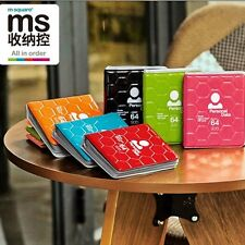 M Square Card Holder Cover Credit Ticket Wallet Case ID Organizer Travel 64Slots