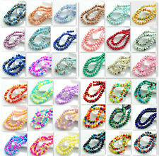 New Colors 40pcs Rondelle Faceted Crystal Glass Loose Spacer Beads DIY 8mm