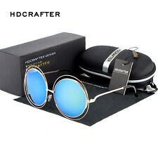 Women's Fashion Retro Mirrored Round Designer Outdoor Sunglasses Glasses Shades