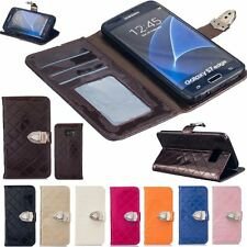 Fashion Flip Leather Card Photo Holder Stand Wallet Case Cover Fr Samsung Galaxy