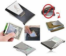 Slim Stainless Steel Double Sided Money Clip Credit Card Note Cash ID Holder New