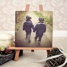 Personalised Mini Canvas plus Easel for desktop - Square