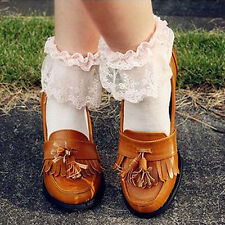 Princess Girl Cute Sweet Women Girl Vintage Lace Ruffle Frilly Ankle Socks